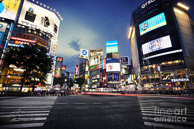 Photograph - Shibuya Crossing by Ben Johnson