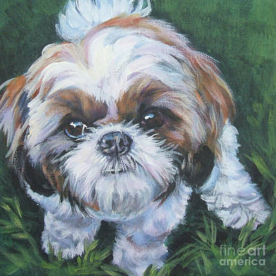 Shih Tzu Painting - Shih Tzu by Lee Ann Shepard