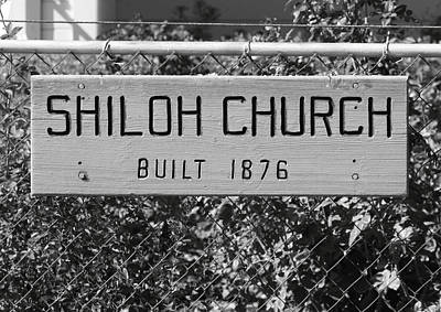 Shiloh Church Sign Birds Landing Ca Art Print