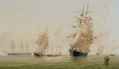 Ship Painting Art Print by WF Settle