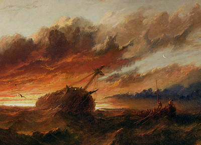 Ship Wreck Painting - Shipwreck by Francis Danby