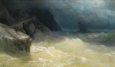 Shipwreck Painting - Shipwreck Off The Black Sea Coast by Ivan Konstantinovich