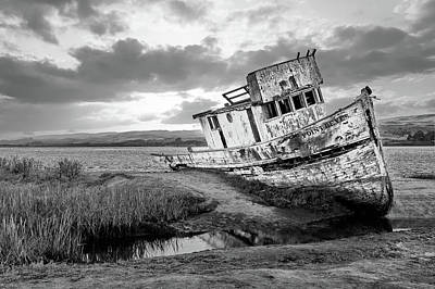 Photograph - Shipwrecked In Point Lobos by Jon Glaser