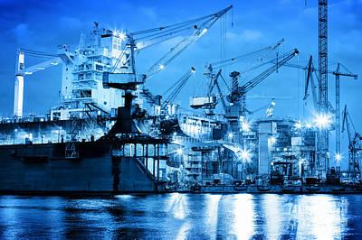Harbor Photograph - Shipyard At Work by Michal Bednarek