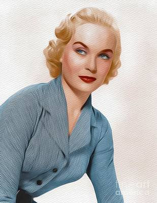 Painting - Shirley Eaton, Carry On Films Cast by John Springfield