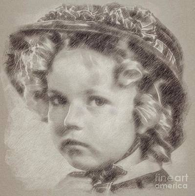 Shirley Temple Vintage Actress Art Print