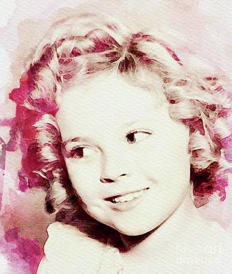 Actors Digital Art - Shirley Temple, Vintage Actress by John Springfield