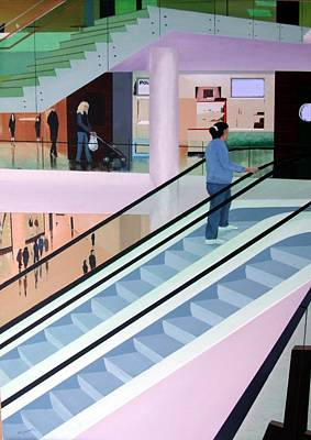 Shopping Mall Art Print by Tony Gunning