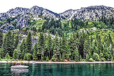 Photograph - Shores Of Emerald Bay by Pat Cook