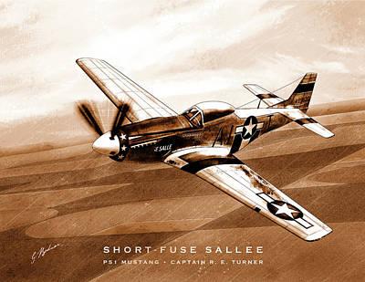 Fused Digital Art - Short-fuse Sallee by Gary Bodnar