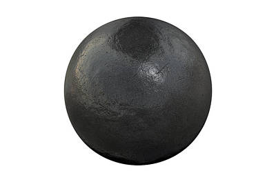 Shotput Ball Isolated Art Print