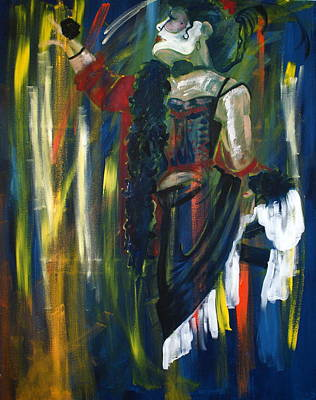 Moulin Rouge Painting - Showgirl by Joanne Claxton