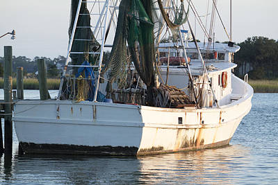 Shrimp Boat Art Print by Dustin K Ryan