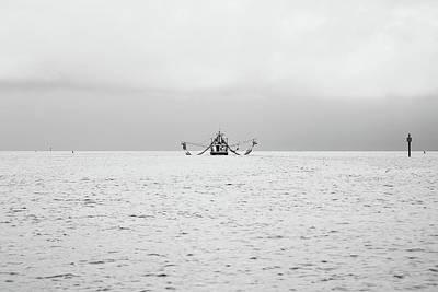 Shrimp Boat In The Pass Art Print by Scott Pellegrin