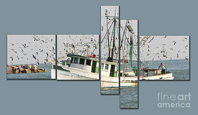 Photograph - Shrimping by Cecil Fuselier
