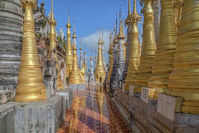 Shwe Indein Pagoda - Myanmar Art Print