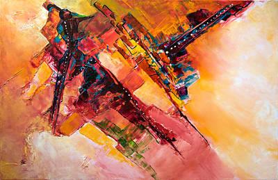 Felt Painting - Sideral  by Francoise Dugourd-Caput