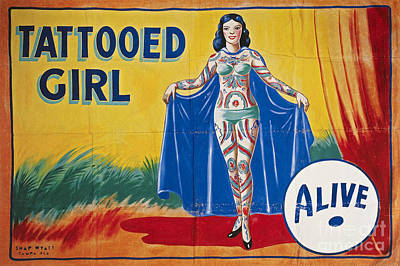 Photograph - Sideshow Poster, C1955 by Granger