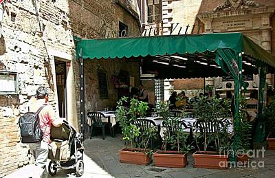 Photograph - Siena-1-ristorante Vitti by Rezzan Erguvan-Onal