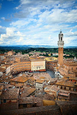 Photograph - Siena Bell Tower by Songquan Deng