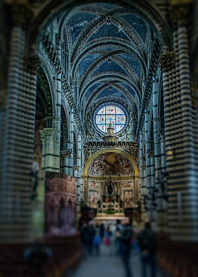Photograph - Siena Catedral, Interior,  by Radoslav Nedelchev