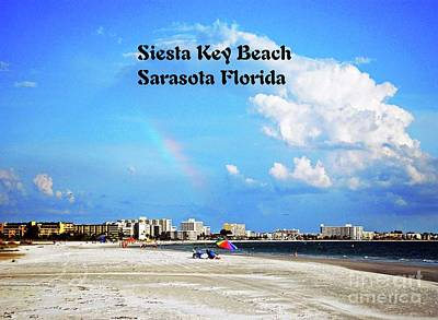 Photograph - Siesta Beach by Gary Wonning