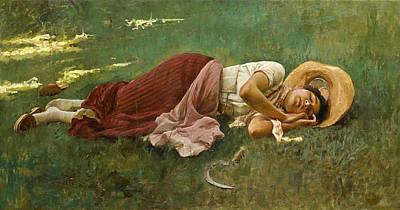 Painting - Siesta by Frank Duveneck