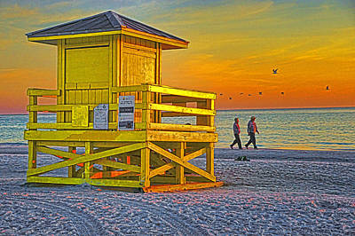 Siesta Key Sunset Art Print by Dennis Cox WorldViews
