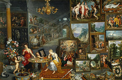 Exhibition Painting - Sight And Smell by Jan Brueghel the Elder