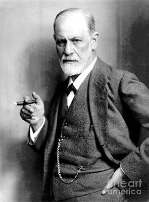 Sigmund Freud, Father Of Psychoanalysis Art Print by Science Source