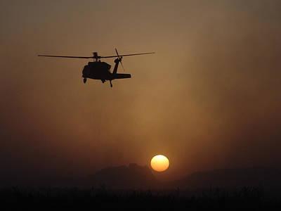 Hawk Digital Art - Sikorsky Uh-60 Black Hawk by Alice Kent