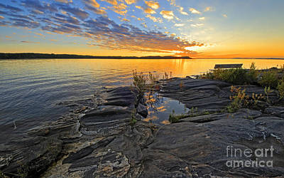 Photograph - Silbow Rock At Sunset by Charline Xia