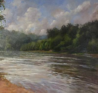 Oil Painting - Silent Afternoon  by Nancy Stutes