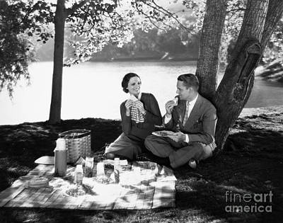 Photograph - Silent Film Still: Picnic by Granger