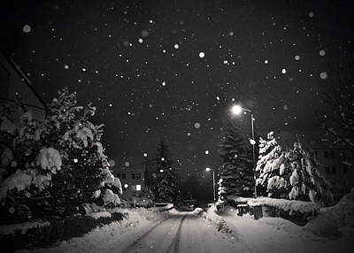 Winter Night Photograph - Silent Night by Dorit Fuhg
