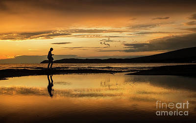 Photograph - Silhouette In Sunset by Daliana Pacuraru