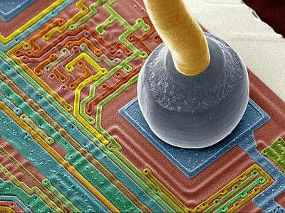Silicon Chip Micro-wire, Sem Art Print by Power And Syred