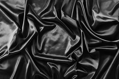 Silk Fabric Art Print by Les Cunliffe