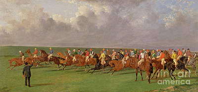 Starting Line Painting - Silks And Satins Of The Turf by Benjamin Herring