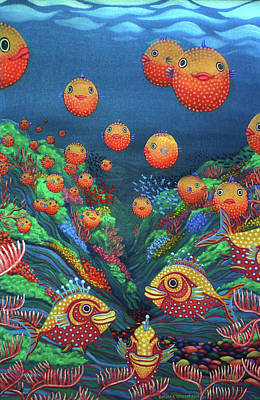 Painting - Sillyfish 2 by Barbara Stirrup