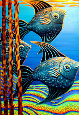 Painting - Sillyfish 3 by Barbara Stirrup
