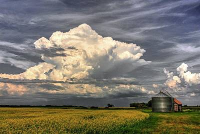 Photograph - Silo Cloud by David Matthews