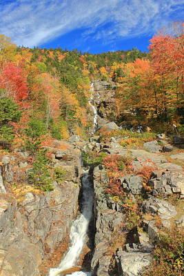 Photograph - Silver Cascade In Autumn by John Burk