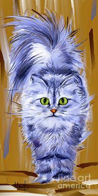 Persian Cat Wall Art - Painting - Silver Persian Cat by Melanie D