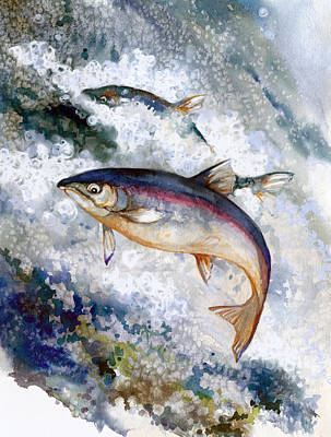 Silver Salmon Art Print by Peggy Wilson
