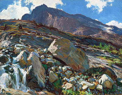 Switzerland Painting - Simplon Pass by Mountain Dreams