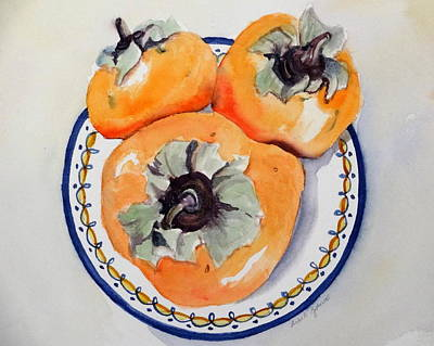 Simply Persimmons Art Print