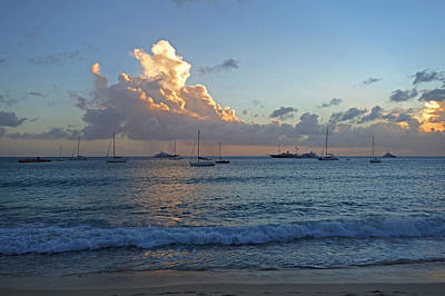 Sint Maarten Photograph - Simpson Bay Sunset Saint Martin Caribbean by Toby McGuire