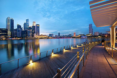 Singapore - Marina Bay Art Print