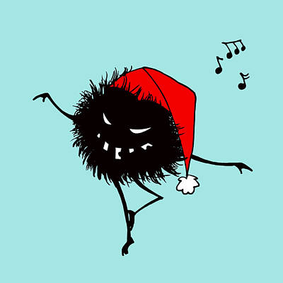 Digital Art - Singing And Dancing Evil Christmas Bug by Boriana Giormova